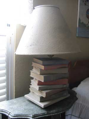 Make A Lamp Out Of Old Books Orland Free Library