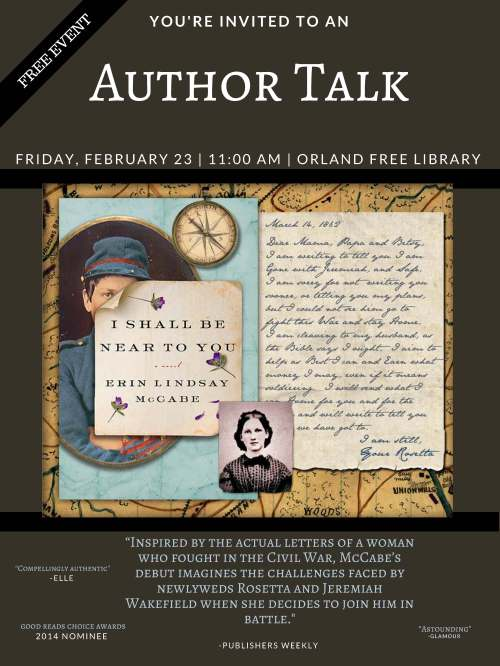 Author Talk- Erin McCabe poster