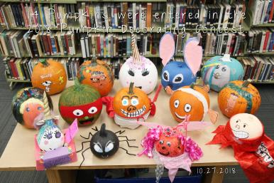 Pumpkin Decorating Contest Winners Orland Free Library