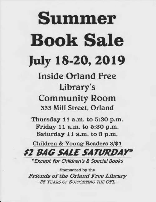 Book sale summer 2019