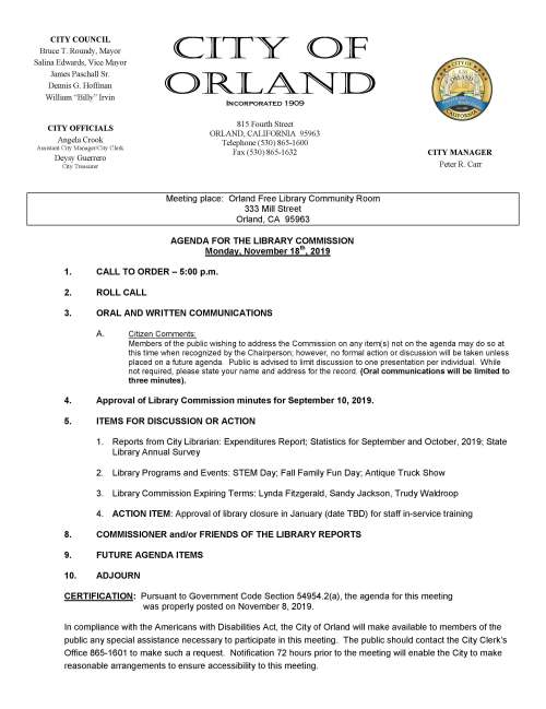 library commission agenda nov 18 2019