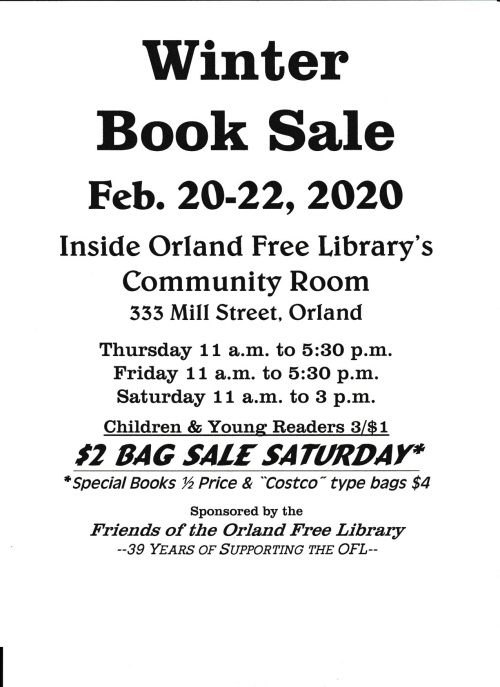 FOL winter book sale 2020