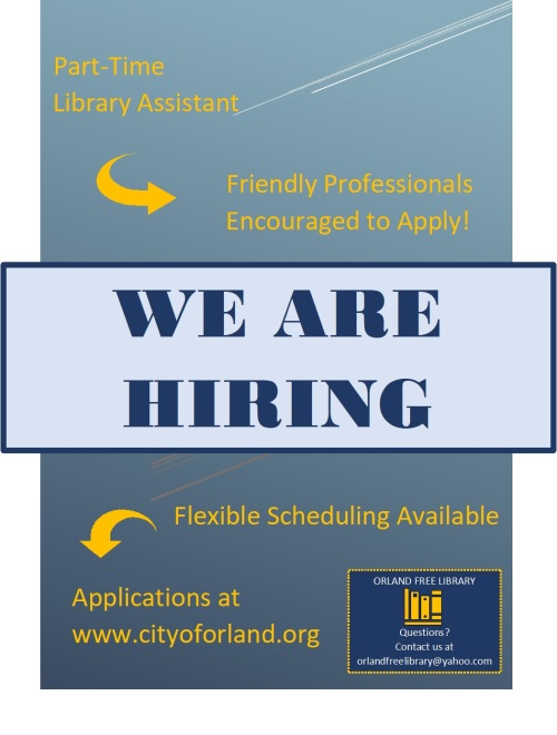 Orland library assistant flyer